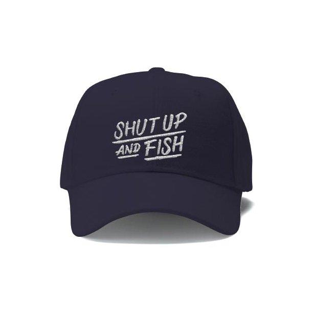 Capt Sig SHUT UP AND FISH Caps, marineblå