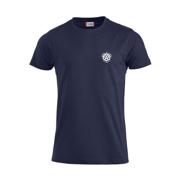 VVW T-skjorte herre, Marineblå